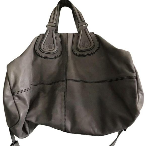 Givenchy Handbags - GIVENCHY Grey Large Nightingale Duffel Bag